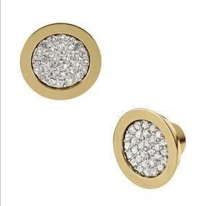 Micheal Kors crystal pave earrings